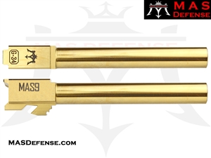 MAS DEFENSE 9MM 416R STAINLESS STEEL GLOCK 34 BARREL - RADIANT GOLD (TIN)