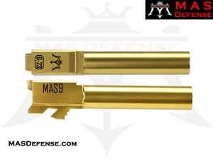 MAS DEFENSE 9MM 416R STAINLESS STEEL GLOCK 23 CONVERSION BARREL - RADIANT GOLD (TiN)