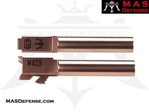 MAS DEFENSE 9MM 416R STAINLESS STEEL GLOCK 23 CONVERSION BARREL - RADIANT BRONZE (ROSE GOLD)