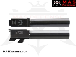 MAS DEFENSE 9MM 416R STAINLESS STEEL GLOCK 23 CONVERSION BARREL - RADIANT GRAY (DLC)