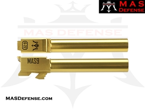 MAS DEFENSE 9MM 416R STAINLESS STEEL GLOCK 22 CONVERSION BARREL - RADIANT GOLD (TiN)