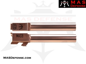MAS DEFENSE 9MM 416R STAINLESS STEEL GLOCK 22 CONVERSION BARREL - RADIANT BRONZE (ROSE GOLD)