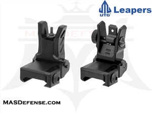 UTG LOW PROFILE FLIP-UP FRONT & REAR SIGHT SET - MNT-755 MNT-955