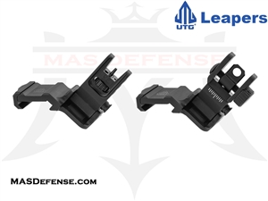 UTG 45 DEGREE ANGLE FLIP UP FRONT & REAR SIGHT SET - MT-745 MT-945
