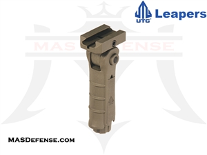 UTG AMBIDEXTROUS 5-POSITION FOLDABLE FOREGRIP FDE - RB-FGRP170D