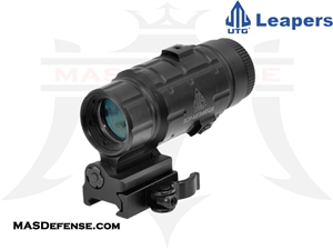 UTG 3X MAGNIFIER W/ FLIP-TO-SIDE QD MOUNT, W/E ADJUSTABLE - SCP-MF3WEQS