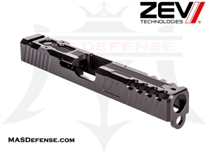 ZEV SPARTAN SIGNATURE CUT SLIDE FOR GLOCK 17 GEN 1-3 WITH RMR OPTIC CUT BLACK - SLD-Z17-3G-SPART-RMR-DLC