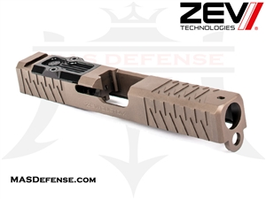 ZEV ENHANCED SOCOM SIGNATURE CUT SLIDE FOR GLOCK 19 GEN 1-3 WITH RMR OPTIC CUT FDE - SLD-Z19-3G-ESOC-RMR-FDE