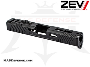 ZEV EXCLUSIVE EXO CUT SLIDE FOR GLOCK 19 GEN 1-3 WITH RMR OPTIC CUT BLACK - SLD-Z19-3G-EXO-RMR-DLC