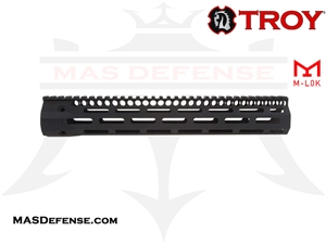 "TROY INDUSTRIES 12.5"" SOCC125 BATTLE RAIL - BLACK - SRAI-SR1-12BT-00"