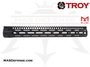 "TROY INDUSTRIES 15.125"" SOCC151  BATTLE RAIL - BLACK - SRAI-SR1-15BT-00"