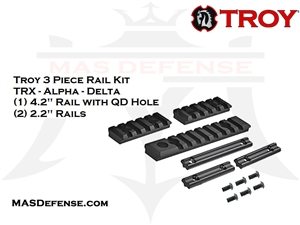 TROY INDUSTRIES BATTLERAIL 3 PIECE RAIL KIT - STRX-AL1