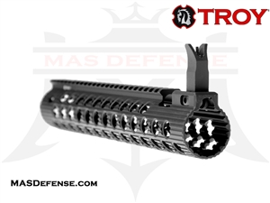 "TROY INDUSTRIES 11"" ALPHA RAIL WITH FRONT SIGHT - STRX-AL1-11BT-00"