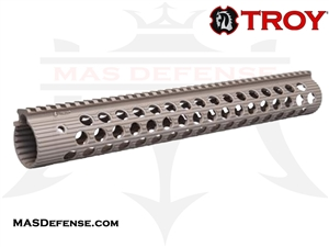 "TROY INDUSTRIES 15"" ALPHA RAIL FDE - STRX-AL1-15FT-01"