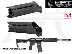 MISSION FIRST TACTICAL TEKKO POLYMER AR15 DROP-IN M-LOK RAIL MFT - TP15MRS-BL