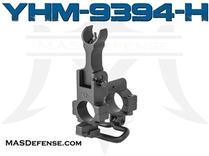 YHM FLIP UP HOODED SIGHT W/ BAYONET LUG SLING .750 - YHM-9394-H