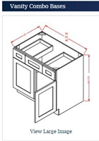VANITY SINK DRAWER CABINET 48