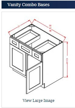 Vanity Sink Base 48 with 2 Drawers