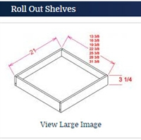 Shaker White Roll out Tray fits Base 30
