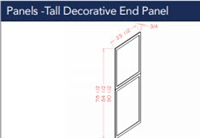 Shaker White Tall Decorative End Panel 2490