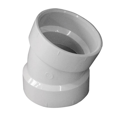 22.5 Degree Slip Elbow Fitting for Schedule 40 PVC Pipe