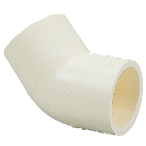 White elbow fitting degree slip for schedule pvc pipe