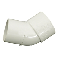 45 Degree Spig x Slip Elbow Fitting for Schedule 40 PVC Pipe