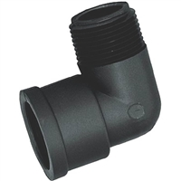BLACK Poly 90 Degree Elbow - MPT X FPT