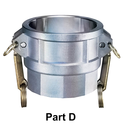 Aluminum Part D Female Coupler x Female NPT  for Lay Flat Hoses