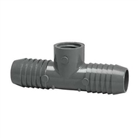 PVC Insert CombinationTee - BARB x BARB x FPT