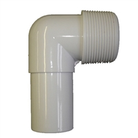"Smooth Hose Adapter 90 Elbow - 1.5"" MPT X 1.5"""