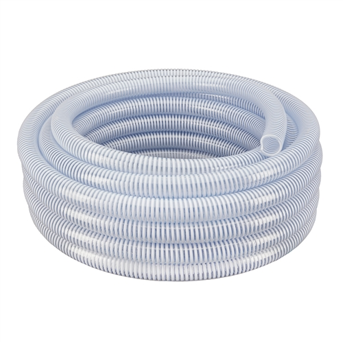 Clear Suction Hose with White Helix