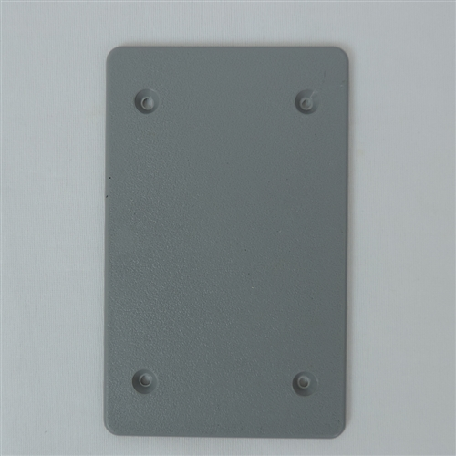 Weatherproof - BC-1XVP Non Metallic GREY PVC SINGLE Gang Blank Cover