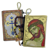 "Christ Extreme Humility Rosary Icon Pouch 5 3/8""x4"""