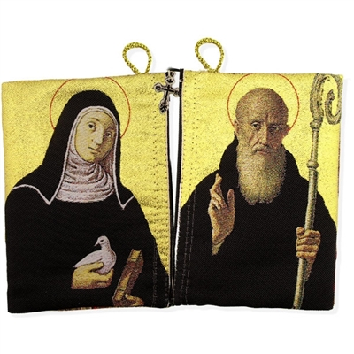 St Benedict and St Scholastica Rosary Icon Pouch Case