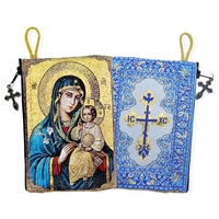"""Mary the Eternal Bloom"" Icon Pouch 5 3/8"" x 4"""