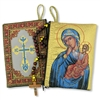 "Virgin of Tenderness Rosary Icon Pouch 5 3/8""x4"""