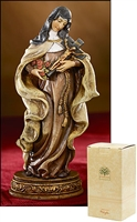 "St. Theresa Statue, 6"" H, Resin, Gift Boxed"