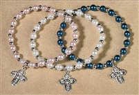 Four Way Imitation Pearl Bracelet, Blue
