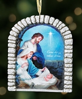 Come Let Us Adore Him Ornament with Ribbon