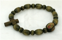 Guadalupe Decade Wood Rosary Bracelet