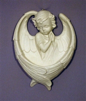 Praying Angel Font, White, 6.5""