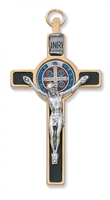 "3"" GOLD ST. BENEDICT CRUCIFIX"