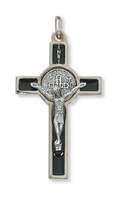 "2"" BLACK ST. BENEDICT CRUCIFIX"