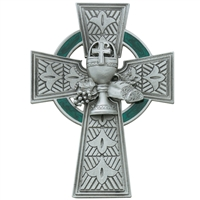 "4 3/4"" Pewter Celtic Communion Cross"