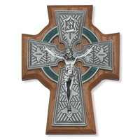 "5 1/2"" Walnut Celtic Crucifix"
