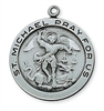 ANTIQUE SILVER ST. MICHAEL MEDAL