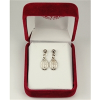 Rhodium Plated Miraculous Earrings