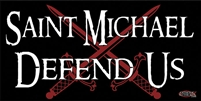 St. Michael Defend Us Bumper Sticker