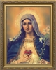 Antique Immaculate Heart Framed Image